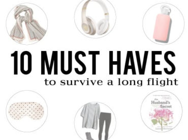 10 Must Haves for a Long Flight